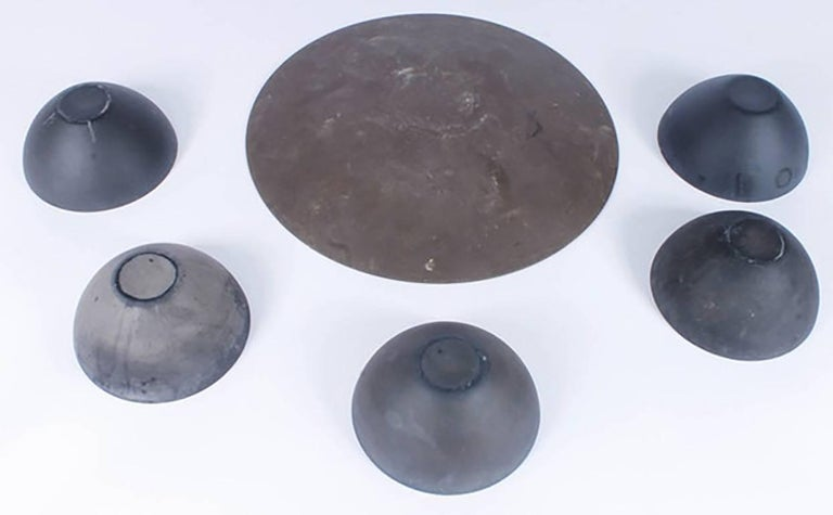 Mid-Century Krenit Bowls and Serving Dish Attributed to Herbert Krenchel 7