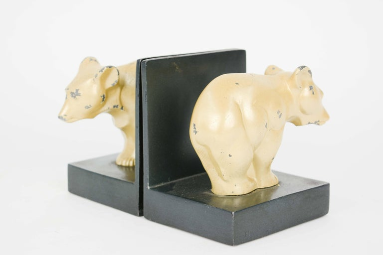 Danish Bauhaus and Early Modernist Abstract Bear Bookends For Sale