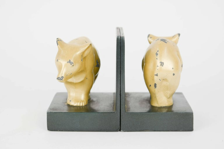 Art Deco Bauhaus and Early Modernist Abstract Bear Bookends For Sale