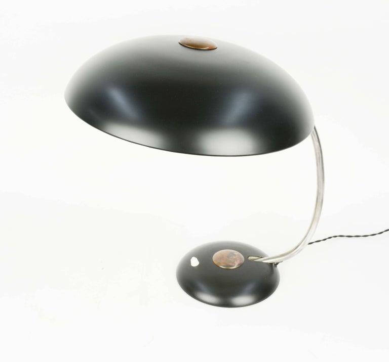 German Grand Black Helio Desk Lamp For Sale