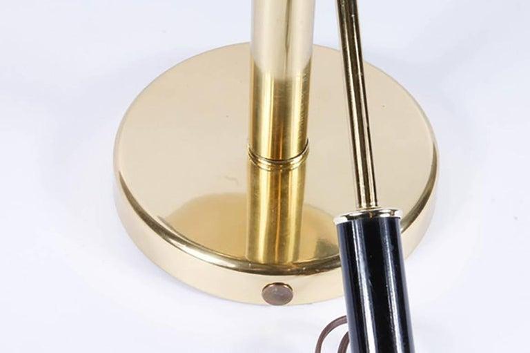 Brass Adjustable Orb Lamp by Robert Sonneman For Sale 2