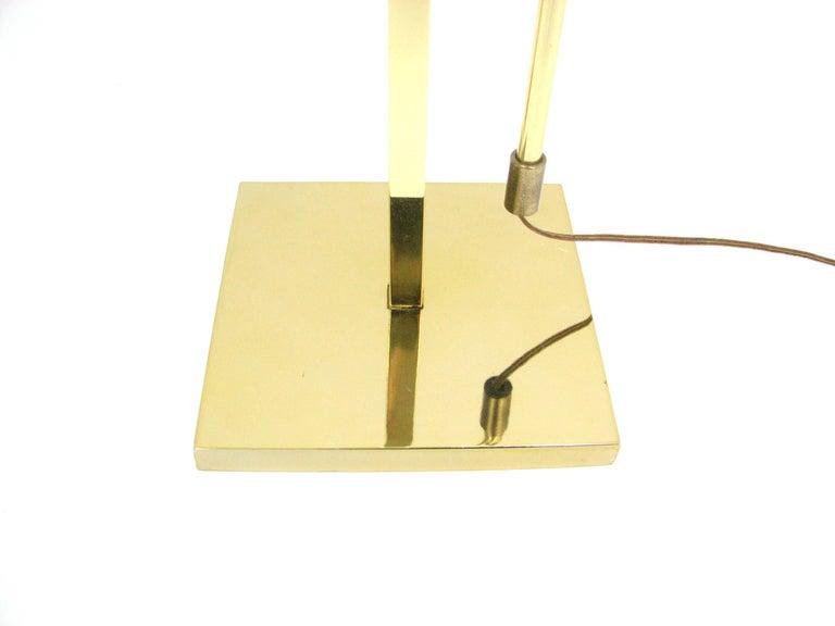 Midcentury Laurel Brass Adjustable Floor Lamp 5