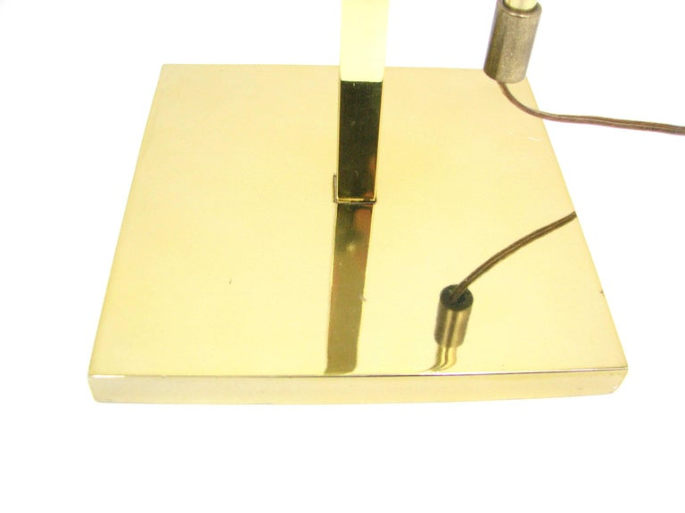 Midcentury Laurel Brass Adjustable Floor Lamp 6