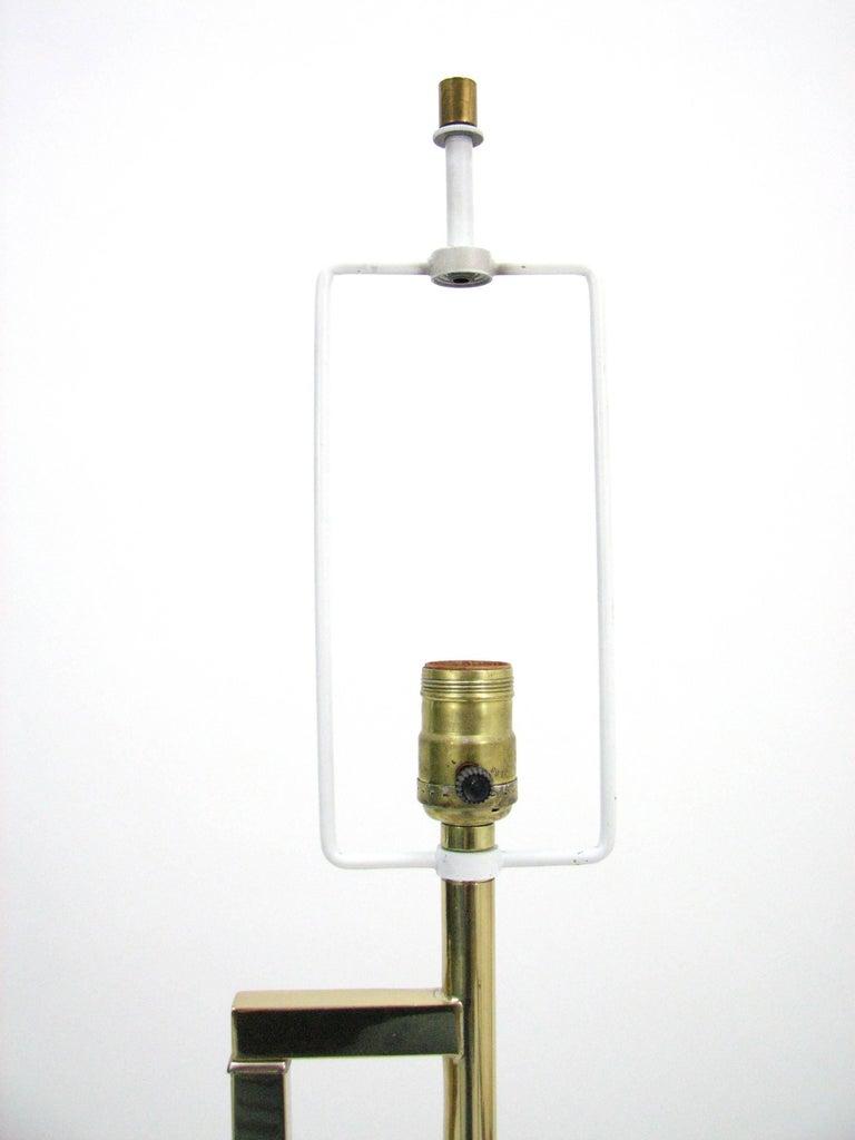 Midcentury Laurel Brass Adjustable Floor Lamp 4