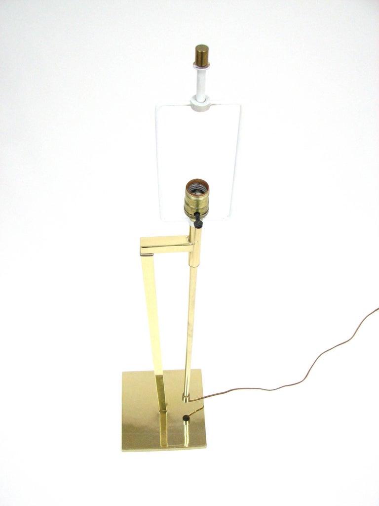 Midcentury Laurel Brass Adjustable Floor Lamp 7