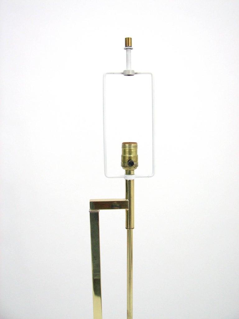 Midcentury Laurel Brass Adjustable Floor Lamp 3