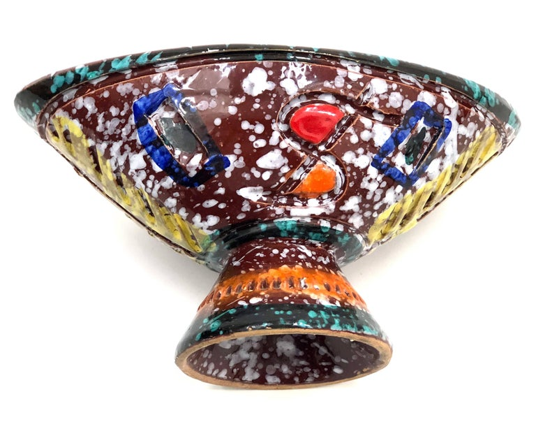 Brightly-Colored and Whimsical Bowl by Fratelli Fanciullacci For Sale 1