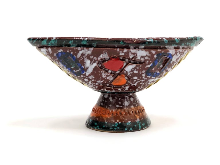 Brightly-Colored and Whimsical Bowl by Fratelli Fanciullacci In Excellent Condition For Sale In Portland, OR