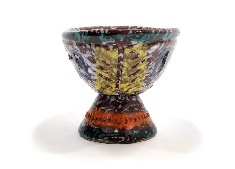 Italian Brightly-Colored and Whimsical Bowl by Fratelli Fanciullacci For Sale
