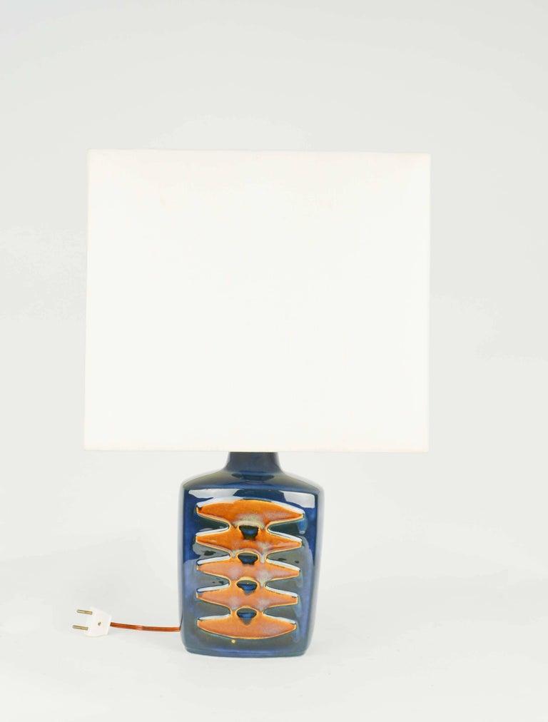Pair of Einar Johansen Ceramic Table Lamps for Soholm Stentj of Denmark For Sale 1