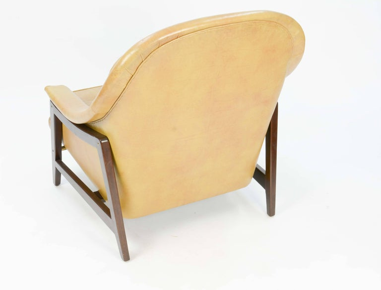 American Edward Wormley's Signature Janus Group Club Chair and Ottoman for Dunbar For Sale