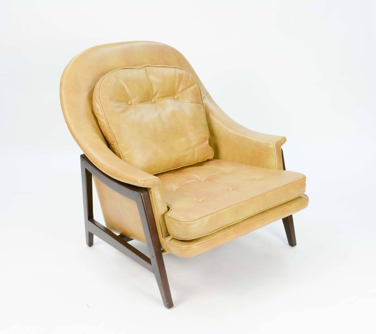 Mid-20th Century Edward Wormley's Signature Janus Group Club Chair and Ottoman for Dunbar For Sale