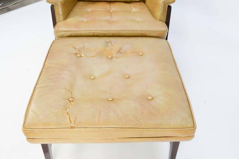 Edward Wormley's Signature Janus Group Club Chair and Ottoman for Dunbar For Sale 1