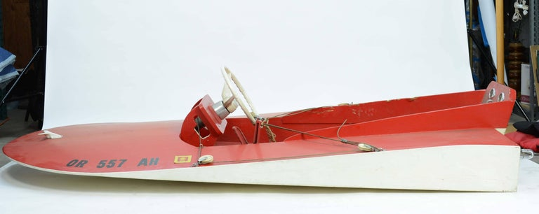 1960s Hand Built Muskoak Sea Flea Minimost Hydroplane Boat by William Jackson For Sale 2