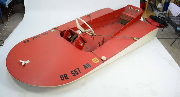1960s Hand Built Muskoak Sea Flea Minimost Hydroplane Boat by William Jackson For Sale 3