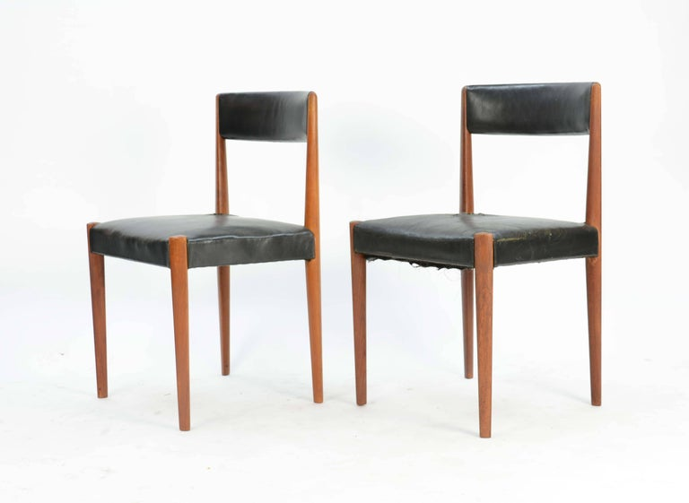 Danish Set of Six Aage Schmidt Christensen for Fritz Hansen Dining Chairs For Sale