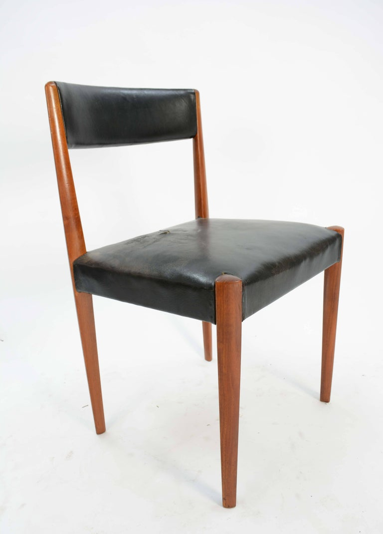 Set of Six Aage Schmidt Christensen for Fritz Hansen Dining Chairs For Sale 4