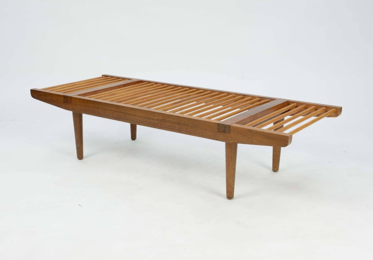 Mid-Century Modern Milo Baughman Dowel Bench and Coffee Table for Glenn of California, 1950 For Sale