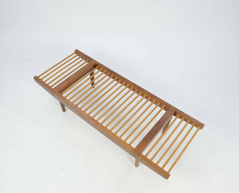 American Milo Baughman Dowel Bench and Coffee Table for Glenn of California, 1950 For Sale