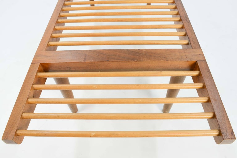 Mid-20th Century Milo Baughman Dowel Bench and Coffee Table for Glenn of California, 1950 For Sale
