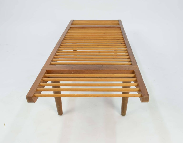 Maple Milo Baughman Dowel Bench and Coffee Table for Glenn of California, 1950 For Sale