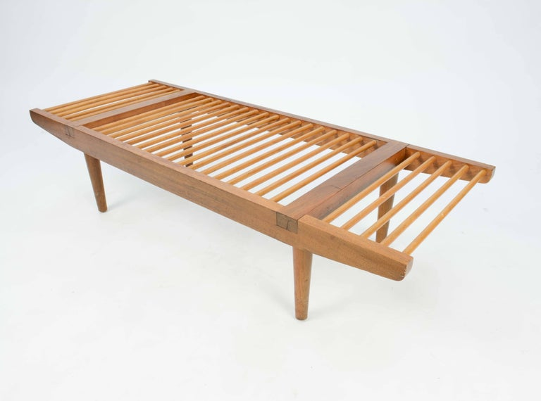 Milo Baughman Dowel Bench and Coffee Table for Glenn of California, 1950 For Sale 1