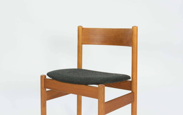 Mid-20th Century Set of Four FDB Mobler Floating Seat Dining Chairs after Borge Mogensen For Sale