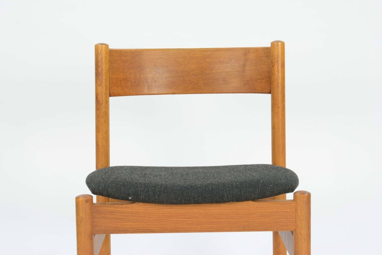 Oak Set of Four FDB Mobler Floating Seat Dining Chairs after Borge Mogensen For Sale