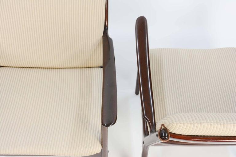 Scandinavian Modern Pair of Ole Wanscher's Club Chair JP112 for P. Jeppesens Møbelfabrik of Denmark For Sale