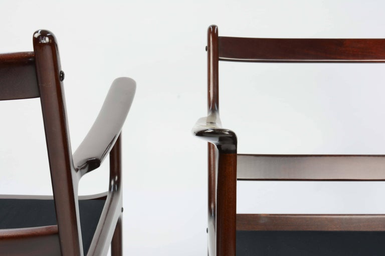 Mid-20th Century Pair of Ole Wanscher's Club Chair JP112 for P. Jeppesens Møbelfabrik of Denmark For Sale
