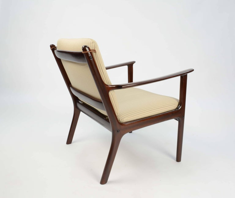 Pair of Ole Wanscher's Club Chair JP112 for P. Jeppesens Møbelfabrik of Denmark For Sale 4