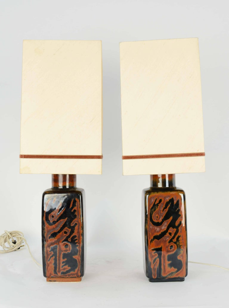 Carl Harry Stalhane's pair of table Lamps in