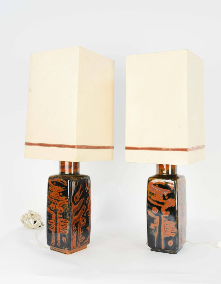 Scandinavian Modern Carl Harry Stalhane's Pair of Table Lamps in