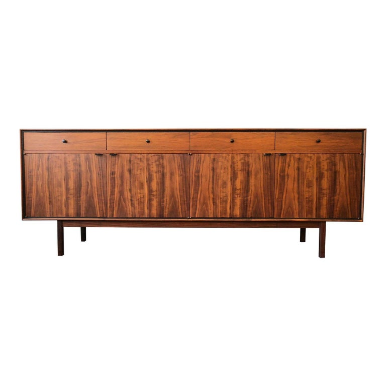 Milo Baughman for Arch Gordon Walnut and Rosewood Credenza For Sale