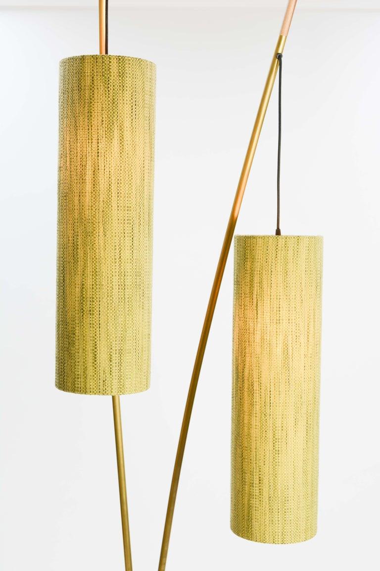 Mid-Century Modern Expansive and Elegant Floor Lamps by Lighting Artisan Jamie Violette For Sale