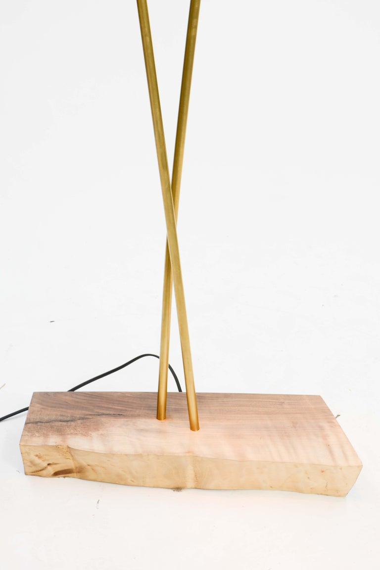 Expansive and Elegant Floor Lamps by Lighting Artisan Jamie Violette In Excellent Condition For Sale In Portland, OR