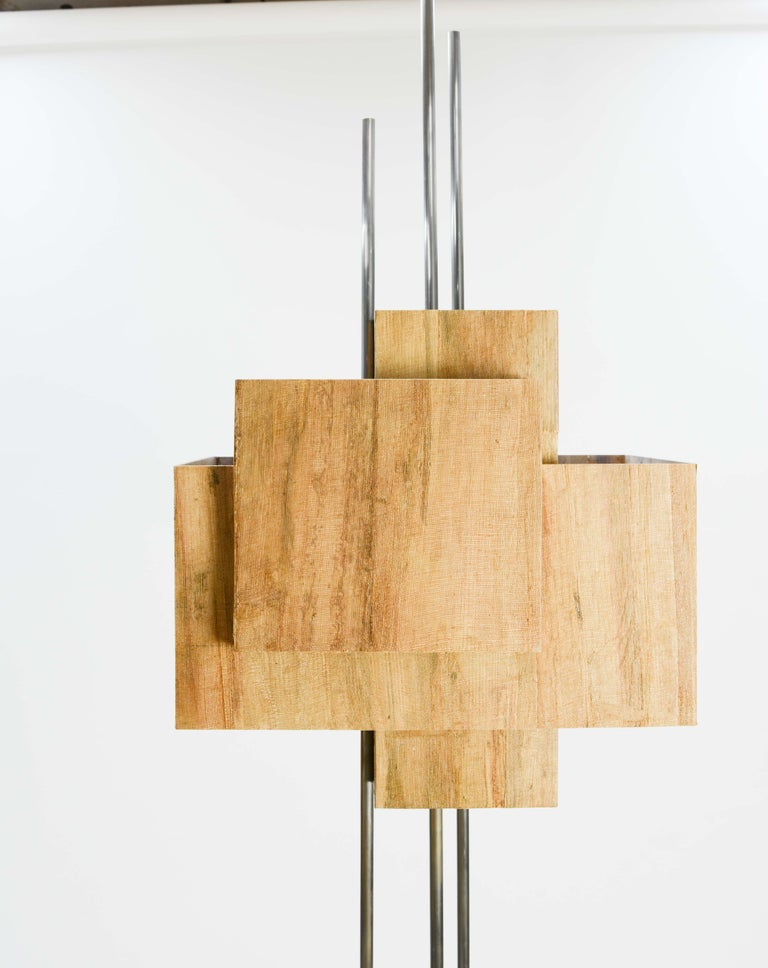 Frank Lloyd Wright Inspired Floor Lamp by Lighting Artisan Jamie Voilette In Excellent Condition For Sale In Portland, OR