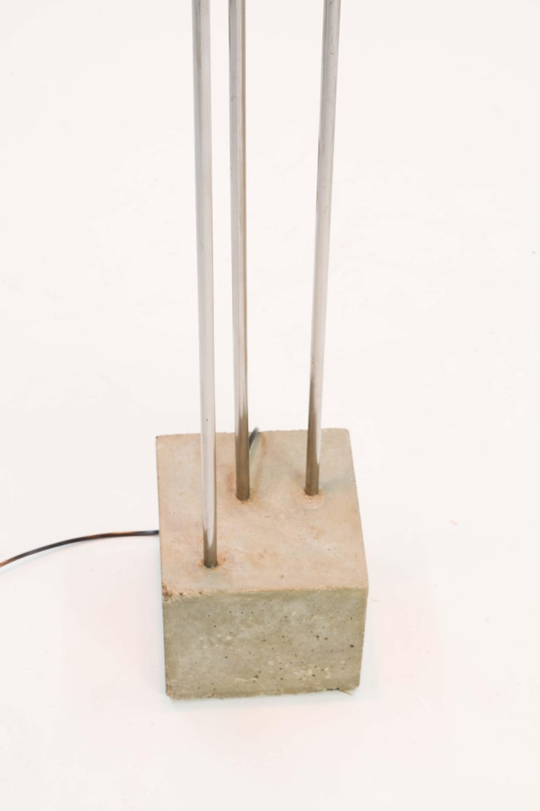 Aluminum Frank Lloyd Wright Inspired Floor Lamp by Lighting Artisan Jamie Voilette For Sale