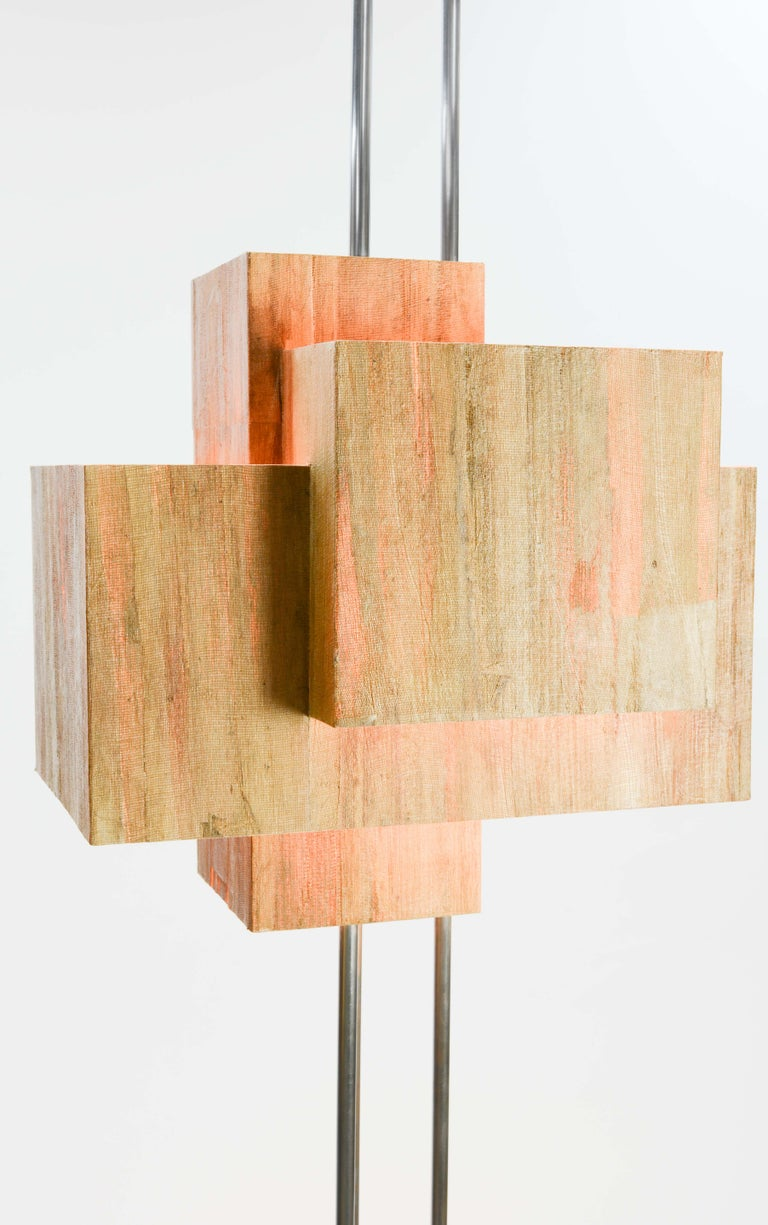 Frank Lloyd Wright Inspired Floor Lamp by Lighting Artisan Jamie Voilette For Sale 3