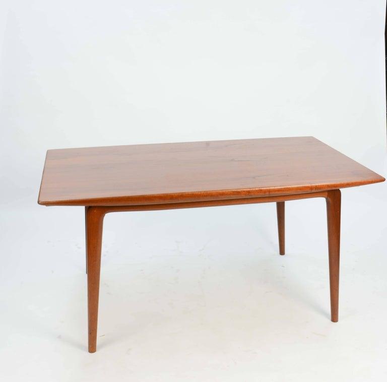 Scandinavian Modern Alfred Christensen's Boomerang Teak Dining Table Slagelse Møbelfabrik of Denmark For Sale