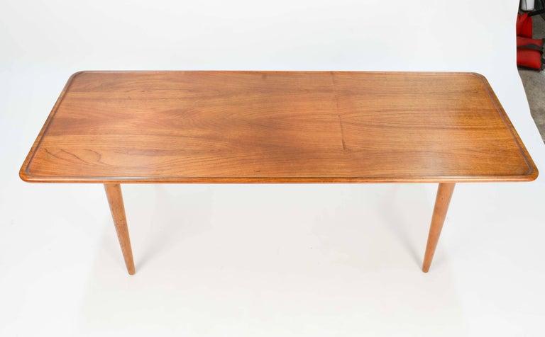 Scandinavian Modern Hans Wegner's Curved Edge Coffee Table for Andreas Tuck of Denmark For Sale