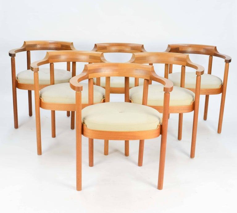 Scandinavian Modern Set of Six Spectacular Henning Jensen & Torben Valeur Armchairs for Munch For Sale
