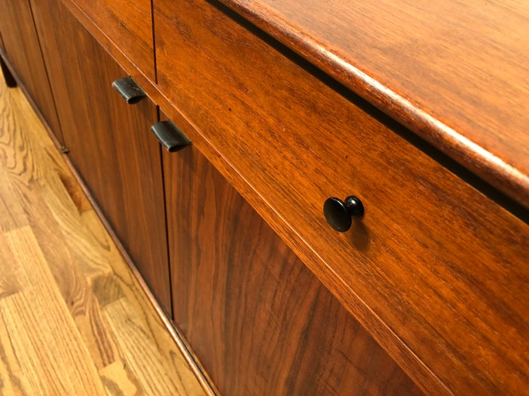 Milo Baughman for Arch Gordon Walnut and Rosewood Credenza In Good Condition For Sale In Portland, OR
