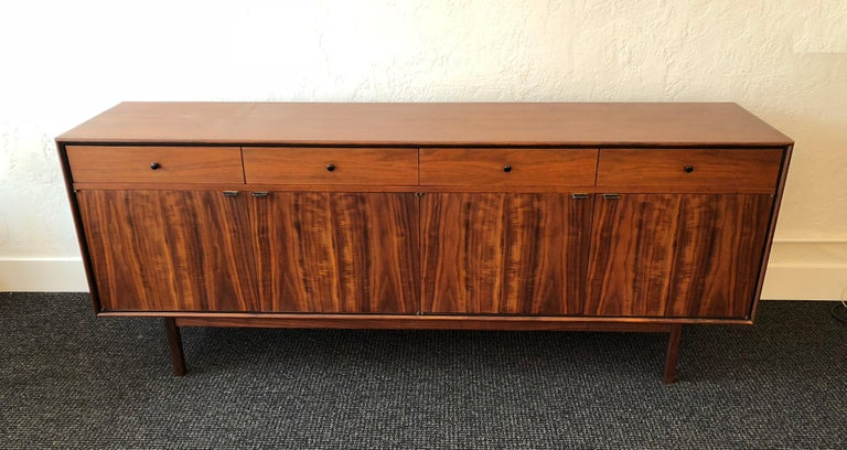 Mid-Century Modern Milo Baughman for Arch Gordon Walnut and Rosewood Credenza For Sale
