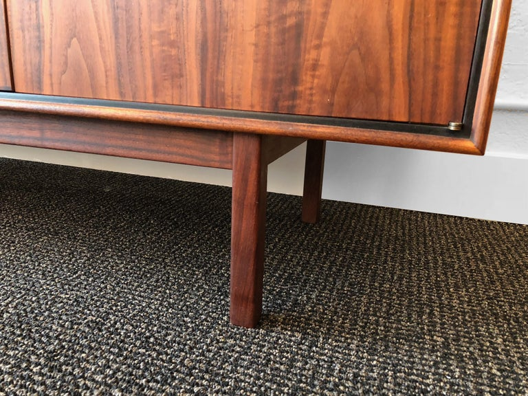 Milo Baughman for Arch Gordon Walnut and Rosewood Credenza For Sale 8