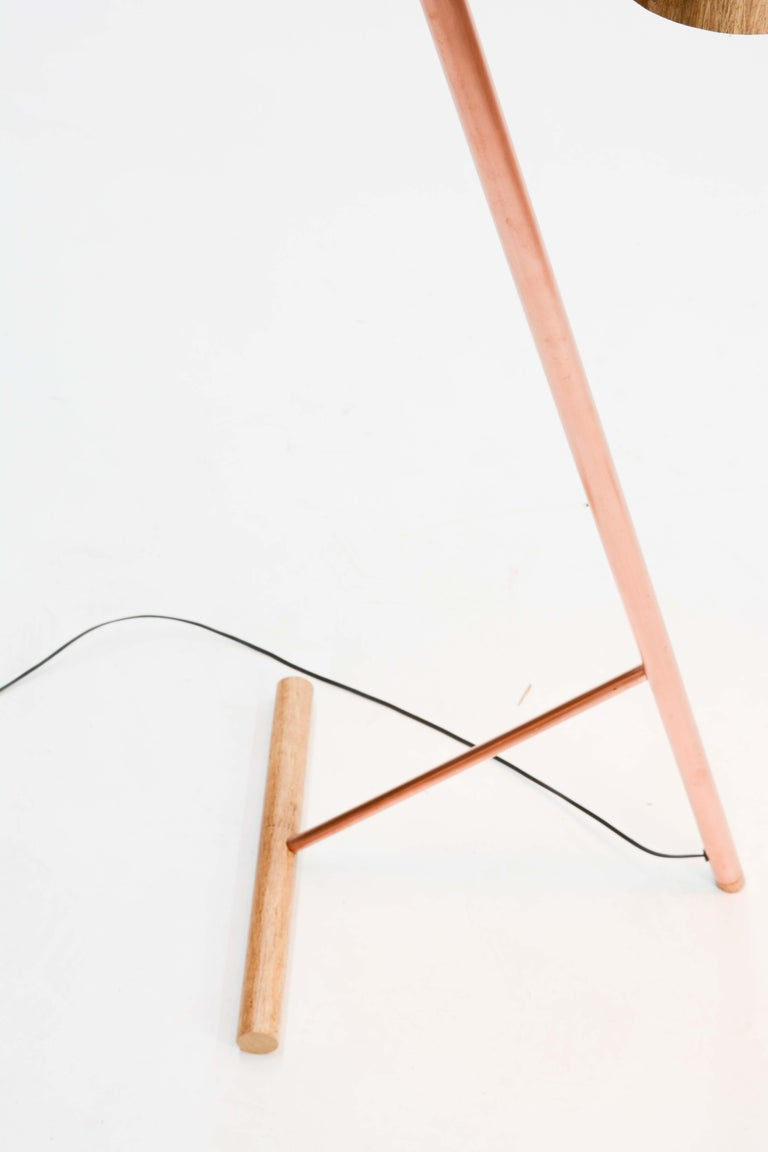 Copper Pair of Iconic Custom Floor Lamps by Artisan James Violette For Sale