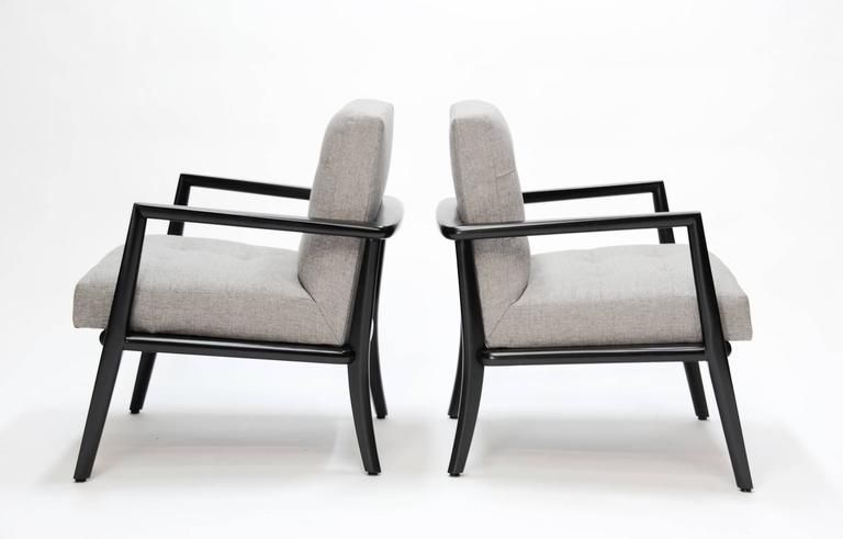 Mid-Century Modern Pair of Monteverdi-Young Club Chairs For Sale