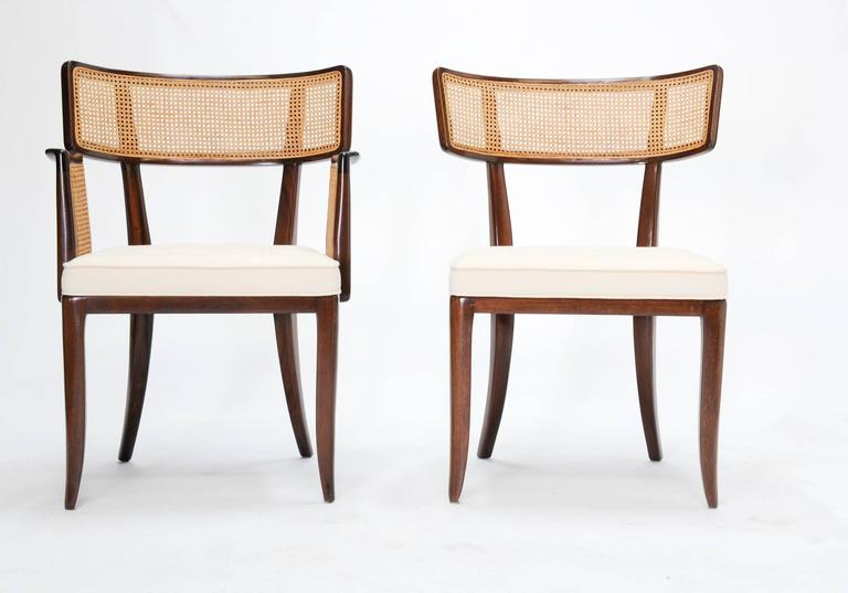 Mid-Century Modern Set of up to 12 Magnificent Edward Wormley Dining Chairs for Dunbar For Sale