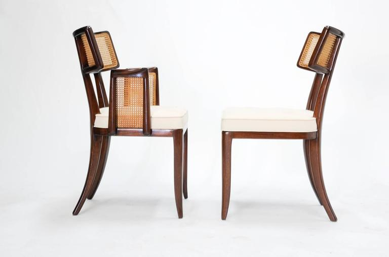 American Set of up to 12 Magnificent Edward Wormley Dining Chairs for Dunbar For Sale