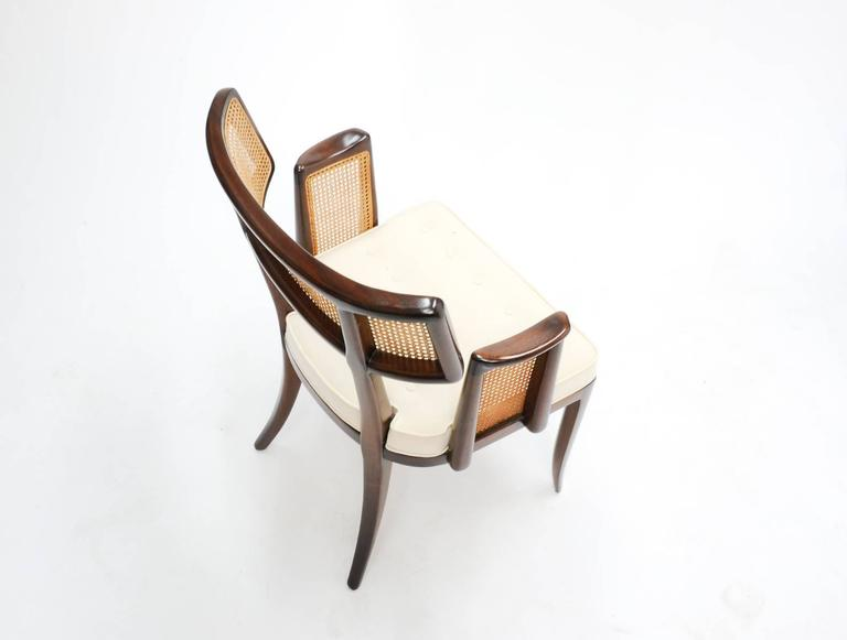 Mahogany Set of up to 12 Magnificent Edward Wormley Dining Chairs for Dunbar For Sale